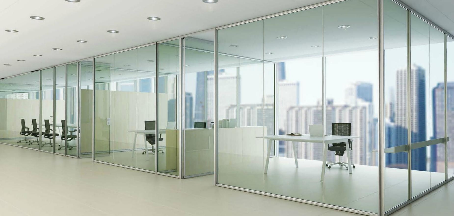 Mamparas de vidrio templado o laminado venta mamparas de for Mamparas de vidrio para oficinas